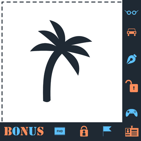 Palm. Perfect icon with bonus simple icons