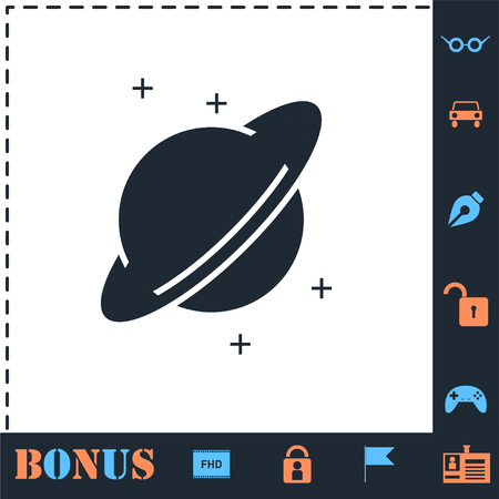Planet. Perfect icon with bonus simple icons