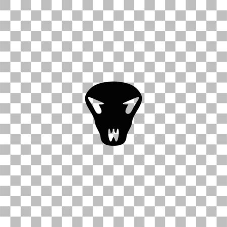 Cow skull. Black flat icon on a transparent background. Pictogram for your project