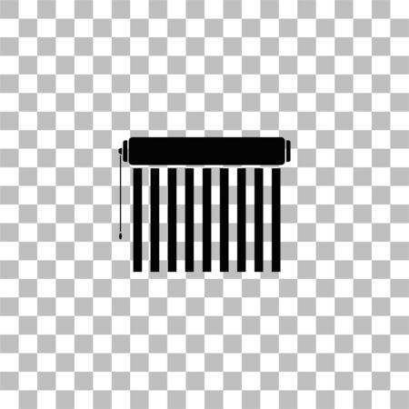 Jalousie. Black flat icon on a transparent background. Pictogram for your project