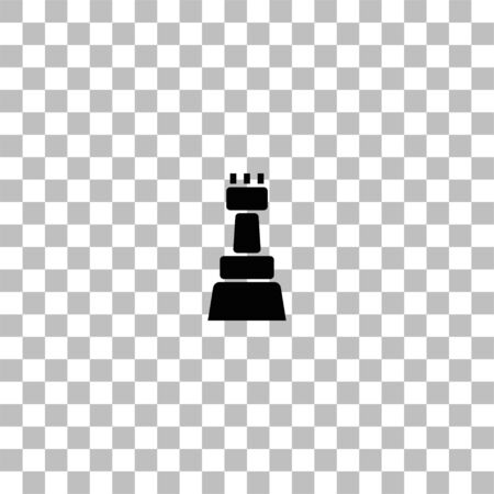 Chess. Black flat icon on a transparent background. Pictogram for your project