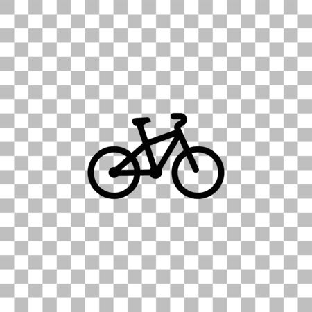 Bicycle. Black flat icon on a transparent background. Pictogram for your project