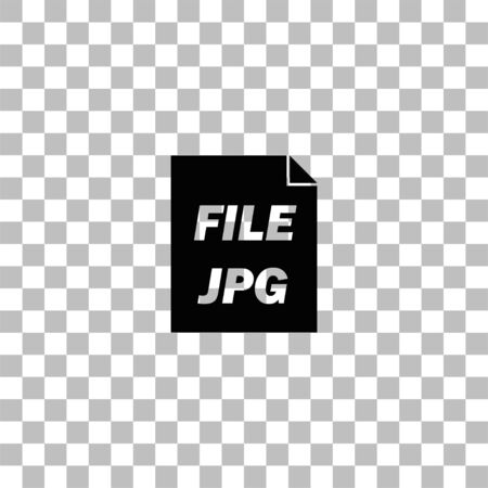 JPEG. Black flat icon on a transparent background. Pictogram for your project