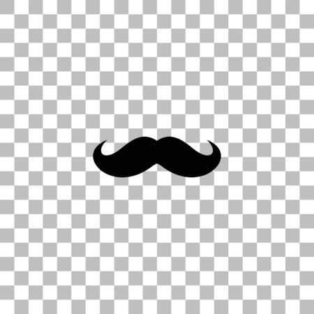 Schnurrhaare. Schwarzes flaches Symbol auf einem transparenten Hintergrund. Piktogramm für Ihr Projekt Vektorgrafik