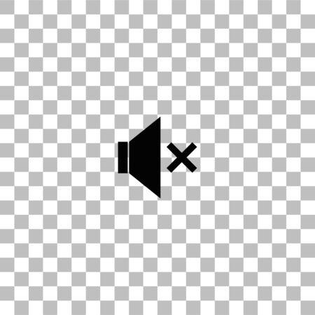 Stumm. Schwarzes flaches Symbol auf transparentem Hintergrund. Piktogramm für Ihr Projekt Vektorgrafik