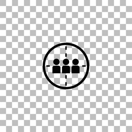 Kill. Black flat icon on a transparent background. Pictogram for your project