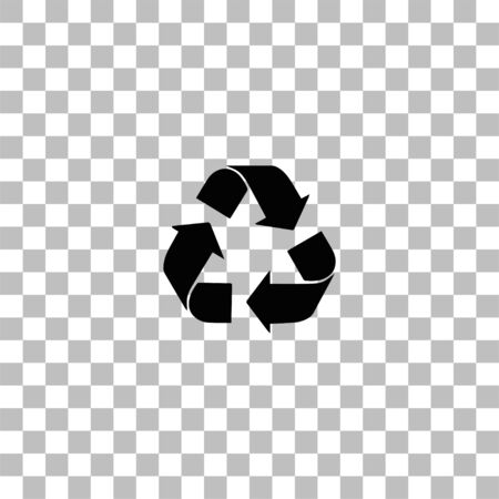 Recycle arrow. Black flat icon on a transparent background. Pictogram for your project