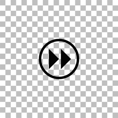 Rewinding. Black flat icon on a transparent background. Pictogram for your project