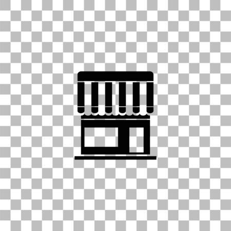 Cafe. Black flat icon on a transparent background. Pictogram for your project