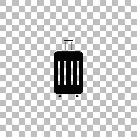 Suitcase. Black flat icon on a transparent background. Pictogram for your project