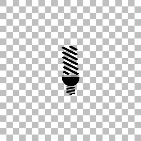 ECO energy lamp. Black flat icon on a transparent background. Pictogram for your project Ilustrace