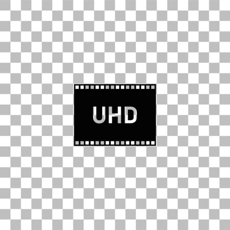 TV Ultra HD. Black flat icon on a transparent background. Pictogram for your project