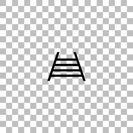 Railway. Black flat icon on a transparent background. Pictogram for your project