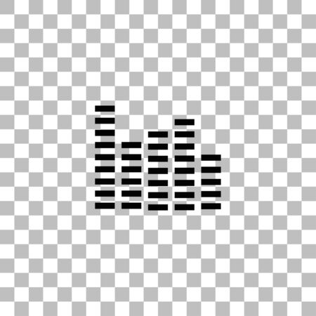 Equalizer. Black flat icon on a transparent background. Pictogram for your project