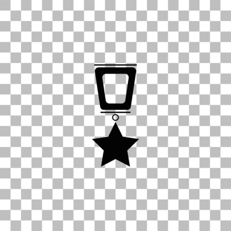 Award. Black flat icon on a transparent background. Pictogram for your project