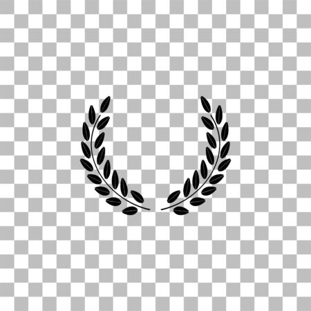 Laurel wreath. Black flat icon on a transparent background. Pictogram for your project