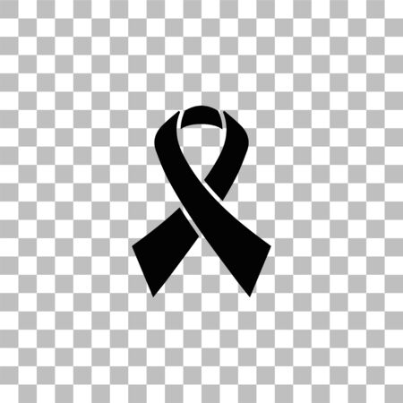 AIDS. Black flat icon on a transparent background. Pictogram for your project Illustration