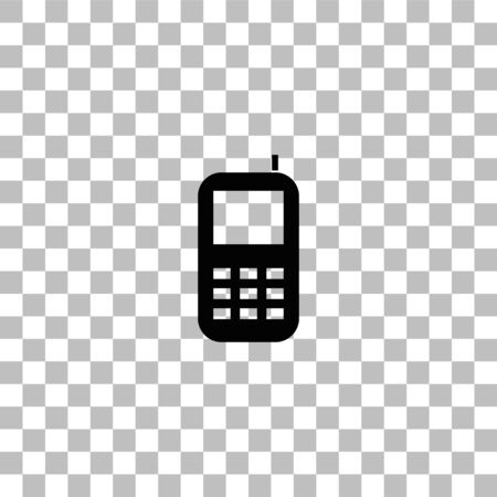 Smartphone. Black flat icon on a transparent background. Pictogram for your project