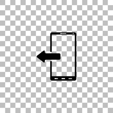 Outcoming calls. Black flat icon on a transparent background. Pictogram for your project Ilustrace
