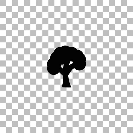 Tree. Black flat icon on a transparent background. Pictogram for your project
