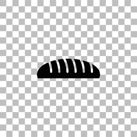 Bread. Black flat icon on a transparent background. Pictogram for your project Ilustrace