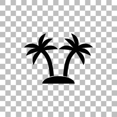 Palms. Black flat icon on a transparent background. Pictogram for your project