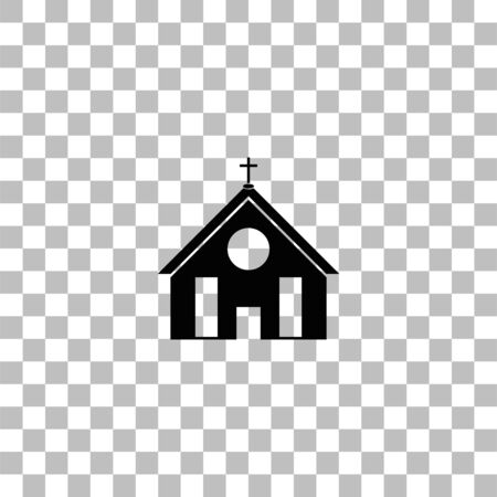 Church. Black flat icon on a transparent background. Pictogram for your project Ilustrace