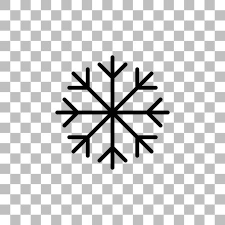 Snowflake. Black flat icon on a transparent background. Pictogram for your project Ilustrace