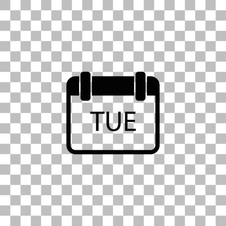 Calendar. Black flat icon on a transparent background. Pictogram for your project