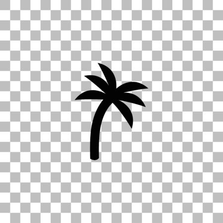 Palm. Black flat icon on a transparent background. Pictogram for your project