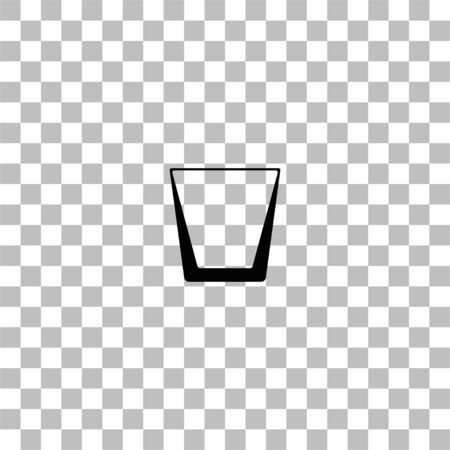 Whiskey glass. Black flat icon on a transparent background. Pictogram for your project Ilustrace