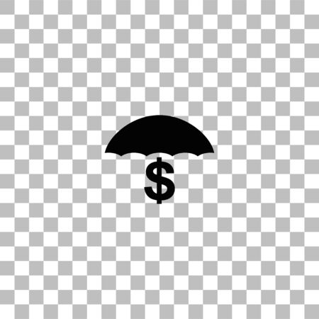Preservation and protection money. Black flat icon on a transparent background. Pictogram for your project