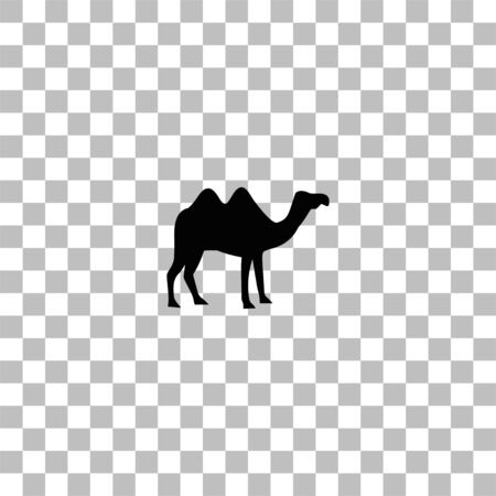 Camel. Black flat icon on a transparent background. Pictogram for your project Ilustrace
