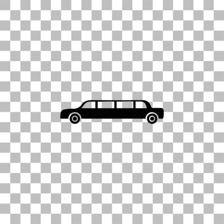 Limousine. Black flat icon on a transparent background. Pictogram for your project Ilustrace