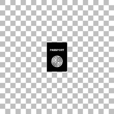 Passport. Black flat icon on a transparent background. Pictogram for your project