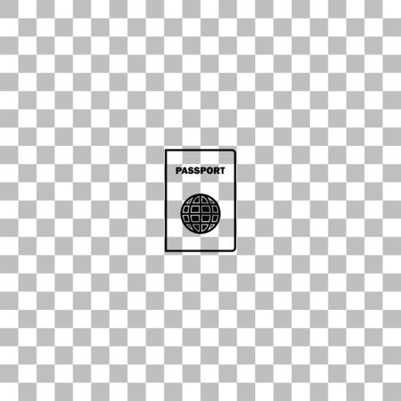 Passport line. Black flat icon on a transparent background. Pictogram for your project