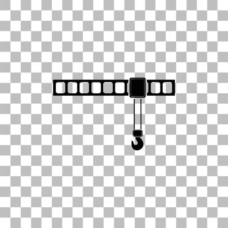 Crane. Black flat icon on a transparent background. Pictogram for your project
