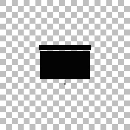 Blinds. Black flat icon on a transparent background. Pictogram for your project
