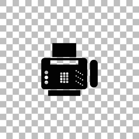 Fax machine. Black flat icon on a transparent background. Pictogram for your project Ilustrace