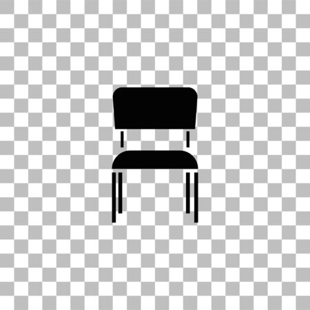Chair. Black flat icon on a transparent background. Pictogram for your project