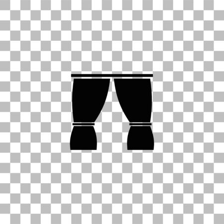 Curtain. Black flat icon on a transparent background. Pictogram for your project