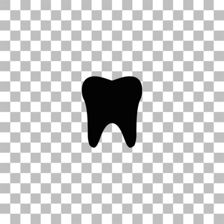 Tooth. Black flat icon on a transparent background. Pictogram for your project Vectores