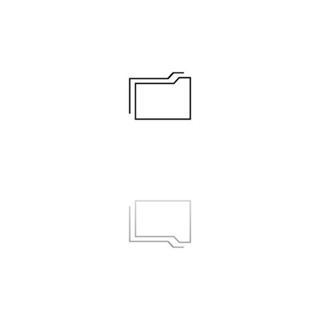 Folder. Black symbol on white background. Simple illustration. Flat Vector Icon. Mirror Reflection Shadow. Can be used in logo, web, mobile and UI UX project