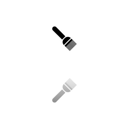 Putty knife. Black symbol on white background. Simple illustration. Flat Vector Icon. Mirror Reflection Shadow.