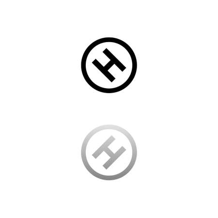 Hospital. Black symbol on white background. Simple illustration. Flat Vector Icon. Mirror Reflection Shadow. Can be used in logo, web, mobile and UI UX project