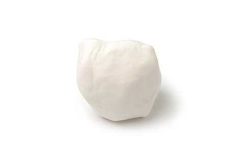 An image of a piece of white plasticine on white background Stock Photo - 12041755