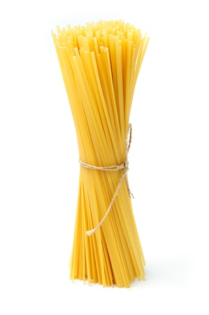 An image of a bunch of raw spaghetti