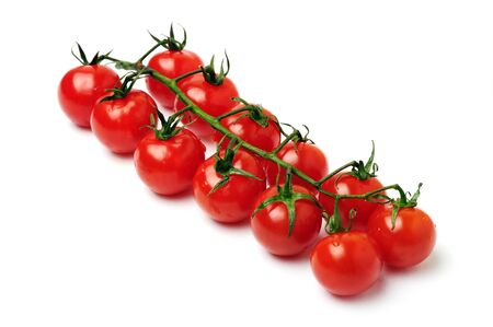 An image of cherry tomatoes on white background Stock Photo