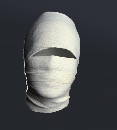 niewidoczny: Portret The Invisible Man na szarym tle Zdjęcie Seryjne