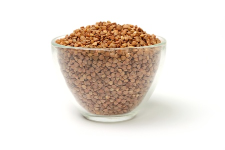 An image of buckwheat in a transparent bowl